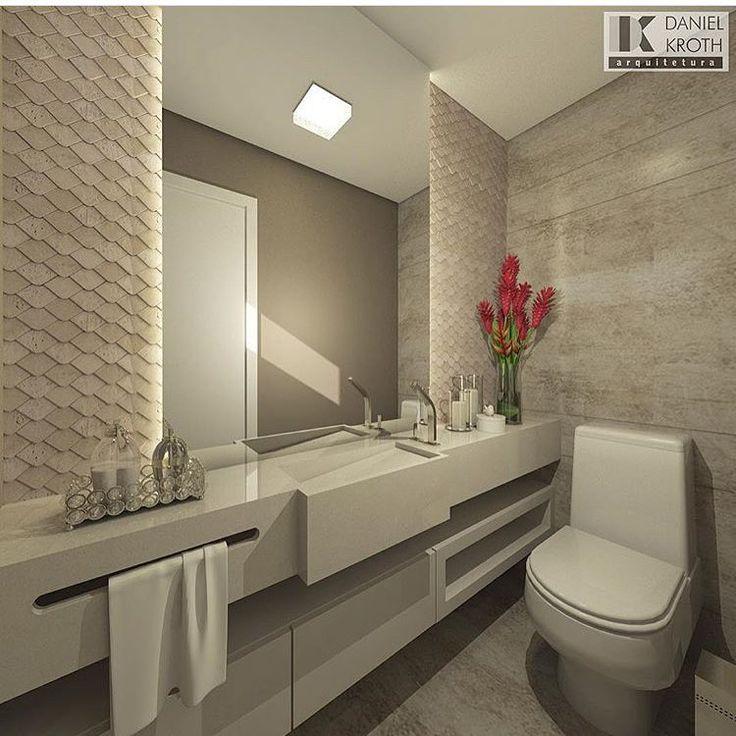 Mais um banheiro pra eu me apaixonar 😍❤️ autoria de Daniel Kroth Arquitetura   @decorcriative
