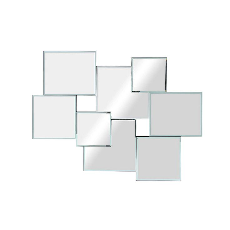 Hotel Squares Multi Wall Mirror 82x62cm Mirror Design Wall Hanging Wall Mirror Rustic Wall Mirrors