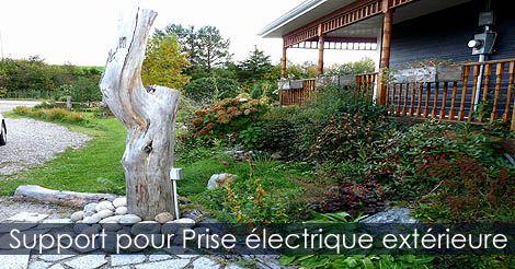 Décoration pratique extérieure - Prise électrique pour jardin. Voir: http://www.france-jardinage.com/amenagement-paysager/amenagement-jardin-3.html