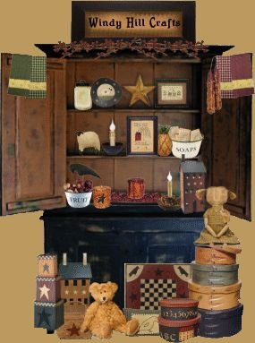 Primitive Crafts Windy Hill Wholesale Primitives Candles Wooden Items  Country Furniture