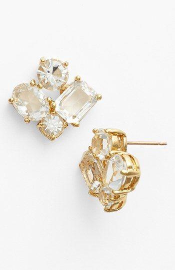 sparkle studs #katespade http://www.theperfectpaletteshop.com/#!bridal-jewelry/crma