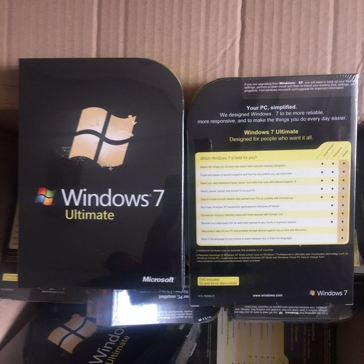 Microsoft Windows 7 Ultimate, SKU FQC-00181 Full Retail Box 32-bit 64-bit SEALE | eBay