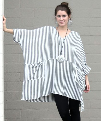 Dairi Moroccan Susti 1 Pocket Tunic Top Natural Stripe | eBay