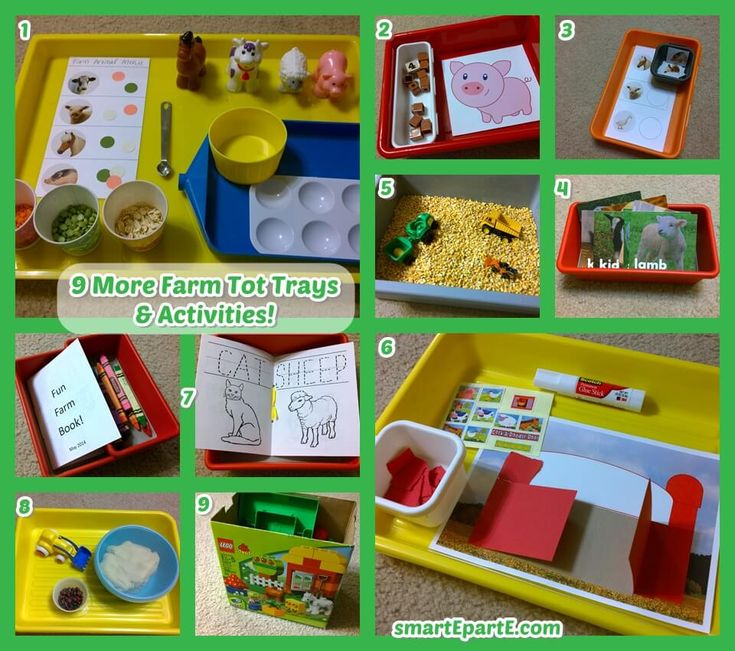 We sure love to learn with the farm! Here is another set of 9 farm tot trays that our nearly-3-year old boy thoroughly enjoyed in his tot school homeschool!
