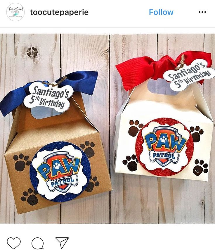 Paw patrol treat box idea