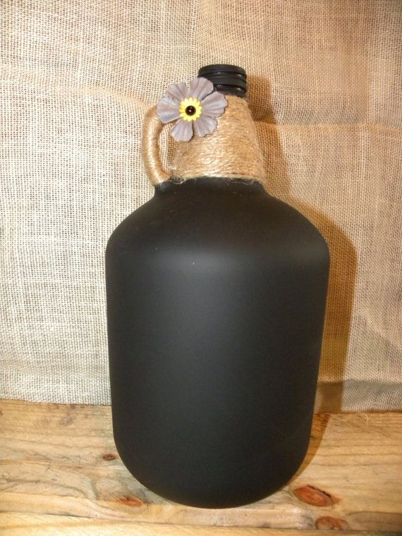 Rustic Chalkboard Painted Wine Jug by ProjectsBySyd on Etsy                                                                                                                                                                                 More