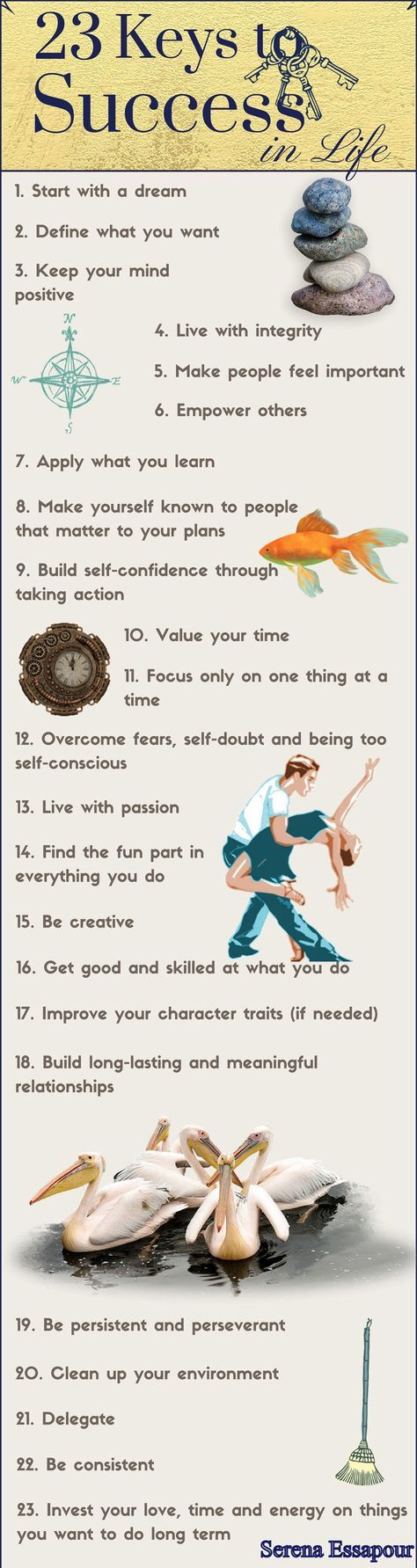 Wondering what you can do to make your dreams a reality this year? Looking for some quick tips on how to be successful? Take a look at this infographic from Serena Essapour for some great pieces of advice!