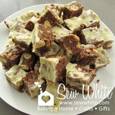 Sew White maltesers fridge tray bake 8