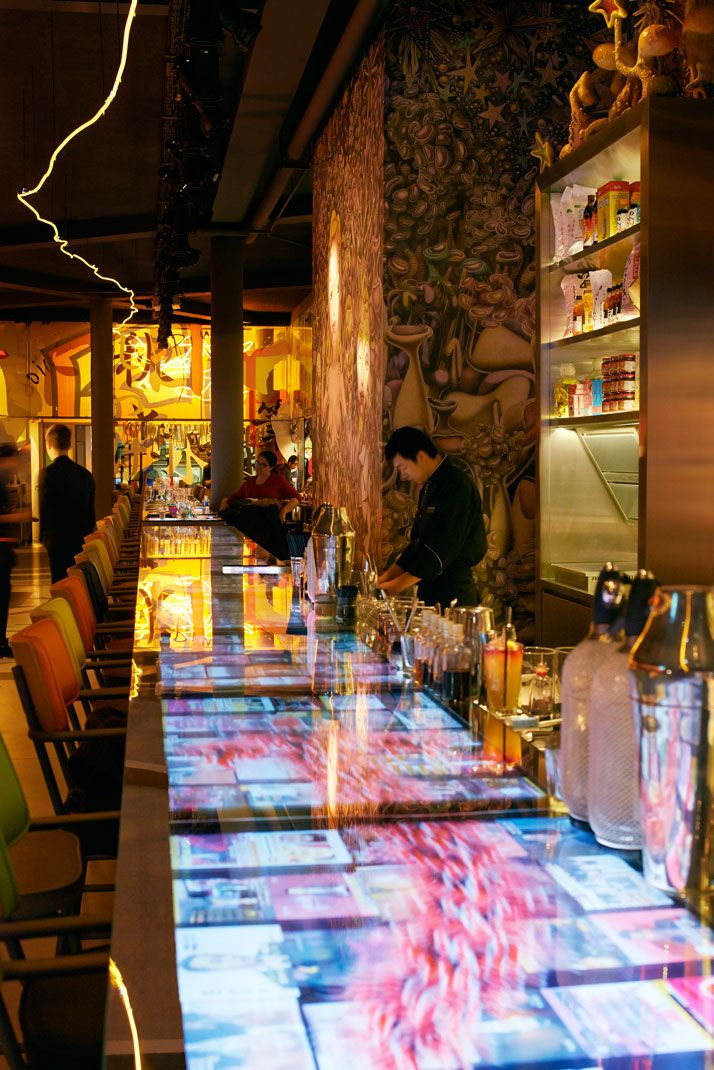 f o s f o r i t a  The Spellbinding Miss Kō Restaurant by Philippe Starck in Paris, France | Yatzer