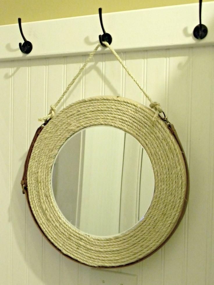 rope mirror using lazy susan