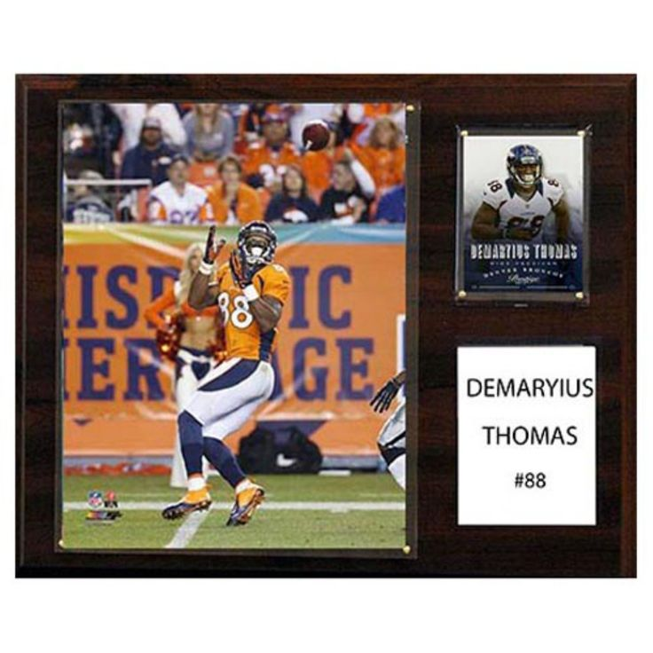 C and I Collectables NFL 15W x 12H in. Demaryius Thomas Denver Broncos Player Plaque - 1215DEMTHOMAS