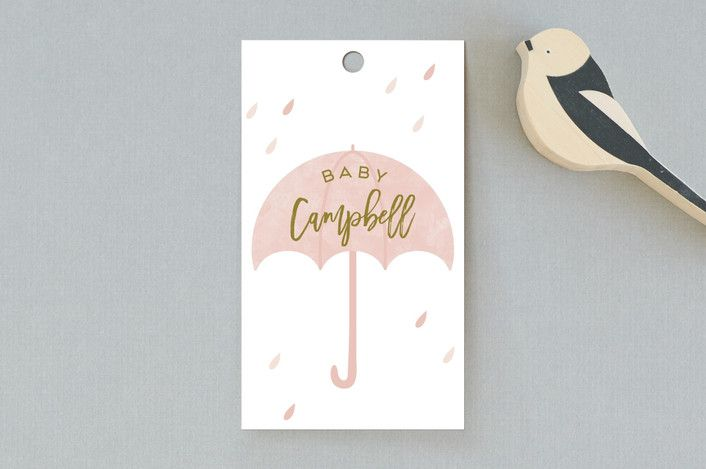 Rain Baby Shower Favor Tags by Gwen Bedat for Minted #Minted #favortag