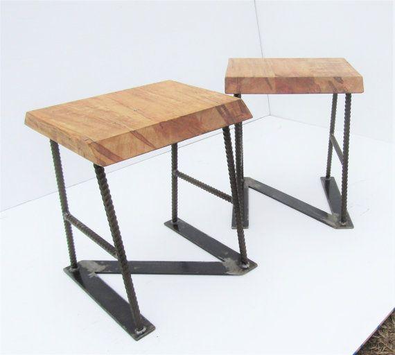 Barkrukken rustieke barkrukken houten door SouthernSteelandWood