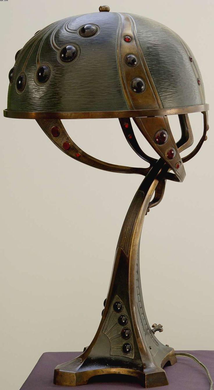 Pin antique garden gates in wrought iron an art nouveau style on - Jugendstil Art Nouveau Table Lamp