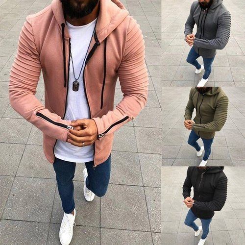55272a64c Winter Spring Men Sport Hoodie High Fashion Street Style Fitted Outwear  Cool Man Pullover Coat