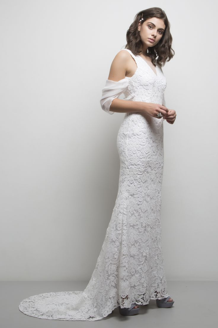 Harper Gown. Comes in black and white.