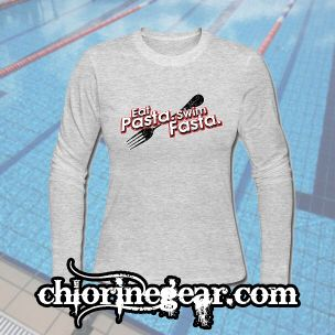 Already a huge hit! This clever design is available on ANY type of garment we have available by using our Create Your Own Feature in the header of our website, ChlorineGear.com. Follow us at #chlorinegear