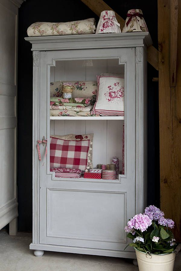 glass fronted vintage armoire by ruby and betty's attic | notonthehighstreet.com