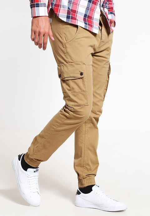 Vêtements Jack & Jones JJIPAUL JJWARNER  - Pantalon cargo - kelp beige: 69,95 € chez Zalando (au 10/04/17). Livraison et retours gratuits et service client gratuit au 0800 915 207.