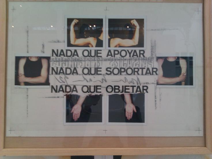 Obra de Nacho Criado. Visto en Palacio de Velázquez, Madrid