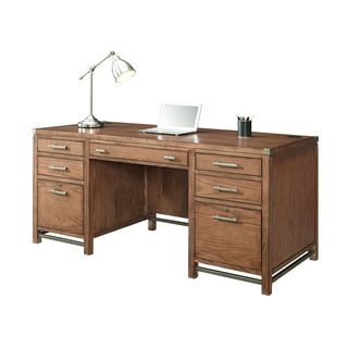shop for amery double pedestal desk get free delivery at overstockcom your bedroomengaging office furniture overstock decorative