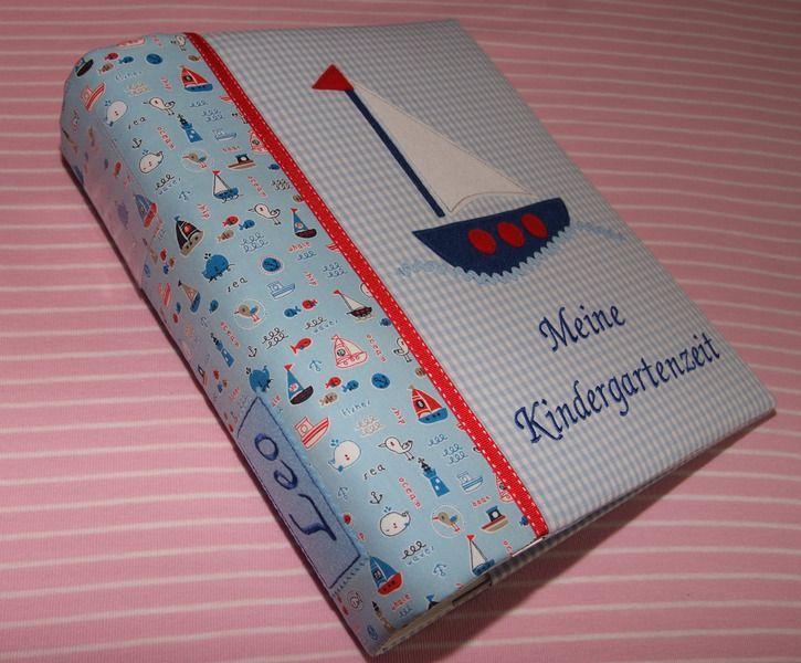 Buch-& Hefthülle - Portfolio Ordner KiTa Kindergarten Ordnerhülle - ein Designerstück von kimico bei DaWanda