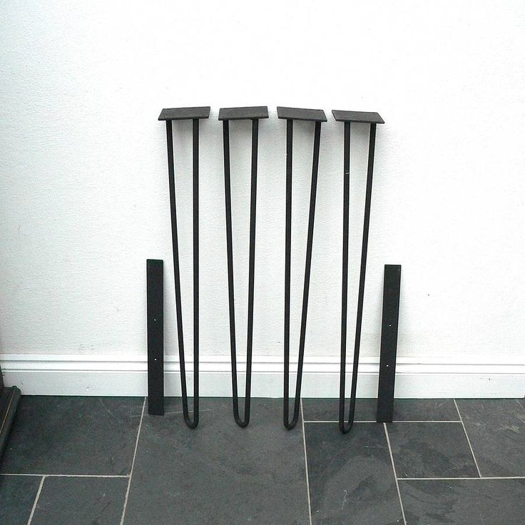 Set Of Steel Hairpin Legs