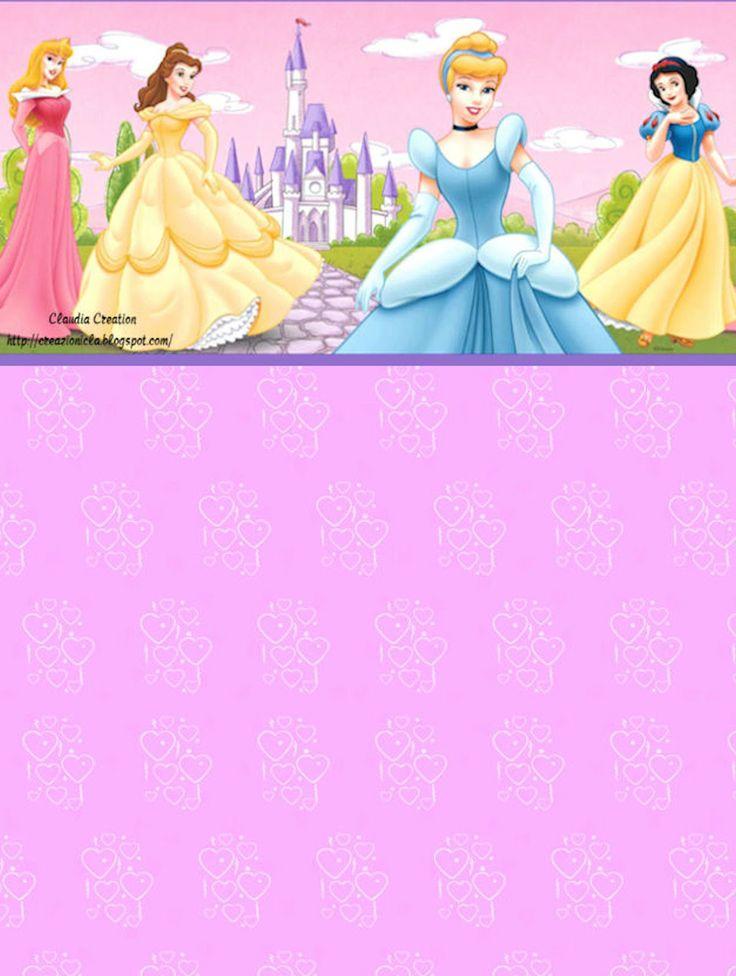 il mio angolo creativo: Carta da lettere Principese Disney
