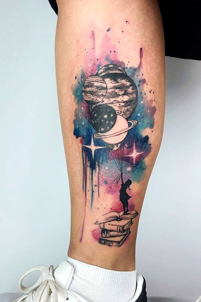 51 Wunderschone Aquarell Tattoo Ideen 2019 51 Wunderschone Aquarell Tattoo Ideen The Post 51 Wunderschone Aquarell Planet Tattoos Galaxy Tattoo Cute Tattoos