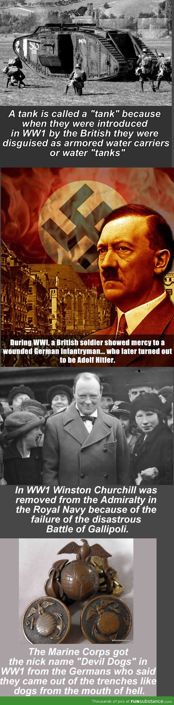Random facts about WW1