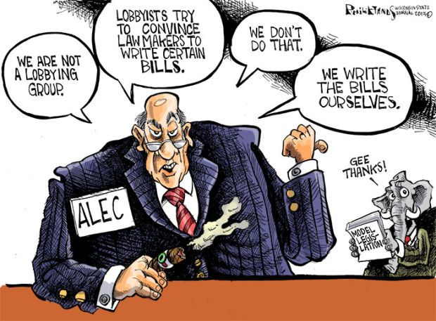 Thought this was an entertaining cartoon. Many people believe that lobbyists get what they want because of the money and affiliations backing them.