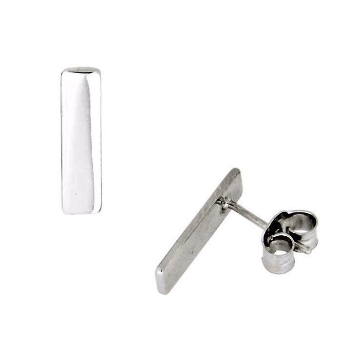 Zilveren Oorbellen Bar
