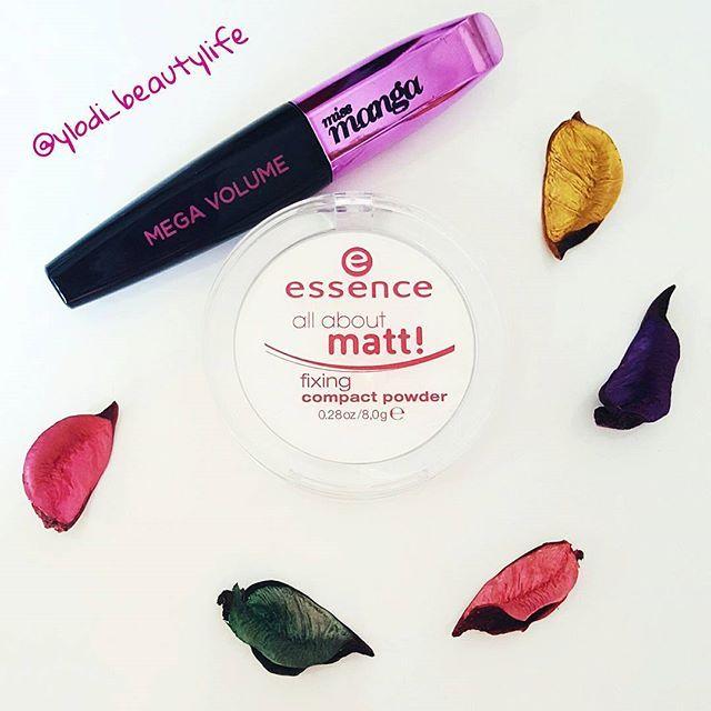 """""""all about matt!"""" fixing compact powder - Essence,  Miss Manga mascara - L'oreal #essence #essencecosmetics #allaboutmatt #fixingpowder #loreal #lorealparis #makeup"""