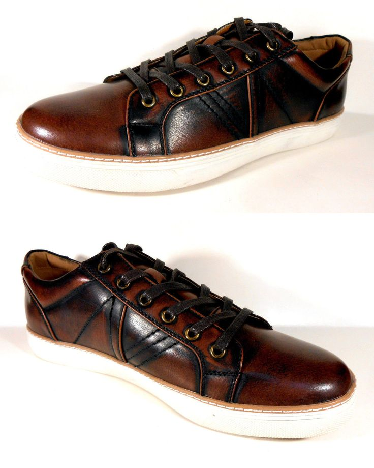 Mens Brown Casual Shoes Stylish Modern Austin Fashion Sneakers New with Box | eBay
