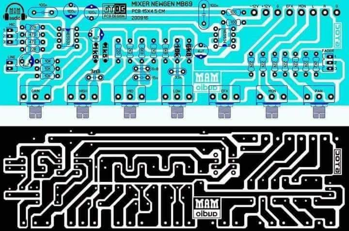 PCB Layout design mixer