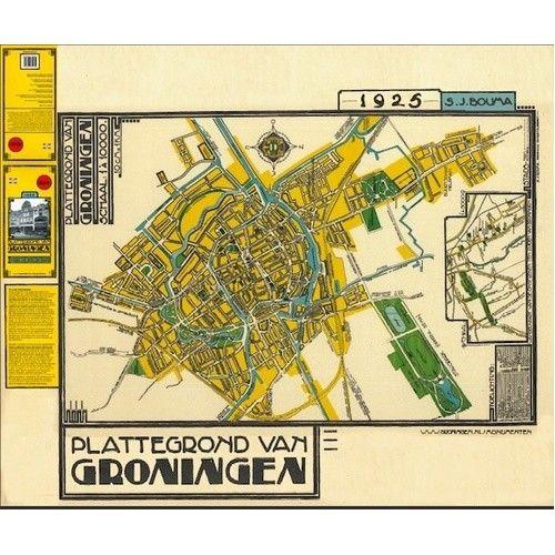 Plattegrond van Groningen - De kaart van Siebe Jan Bouma 1925