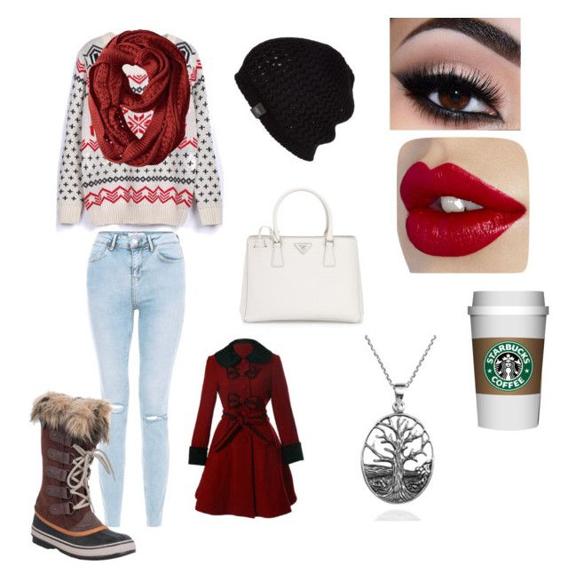 Untitled #1 by julle-fangirl on Polyvore featuring polyvore, fashion, style, WithChic, SOREL, Prada, AeraVida, UGG Australia, Smartwool and clothing