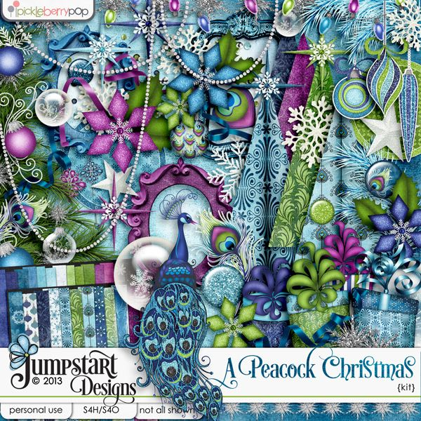 A Peacock Christmas ~ Kit ~ By Jumpstart Designs