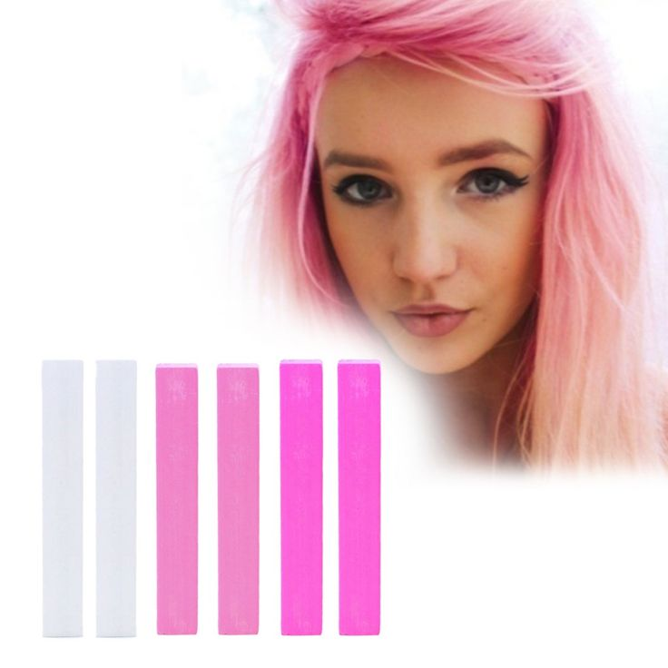 Pink Ombre Hair Dye | BARBIE hair chalk set of 6 | Temporary Pink Ombre Hair Color