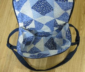 Free Sewing Pattern for a Saddlebag Style Pocketbook: Finish the Lining