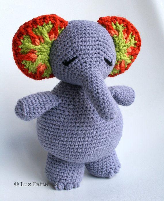 Crochet Doll Patterns On Etsy : Crochet patterns, animal amigurumi pattern, elephant ...