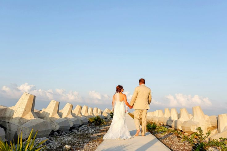 Beautiful Beachside Wedding at Excellence Playa Mujeres | Mexico wedding venues (This One Photography)
