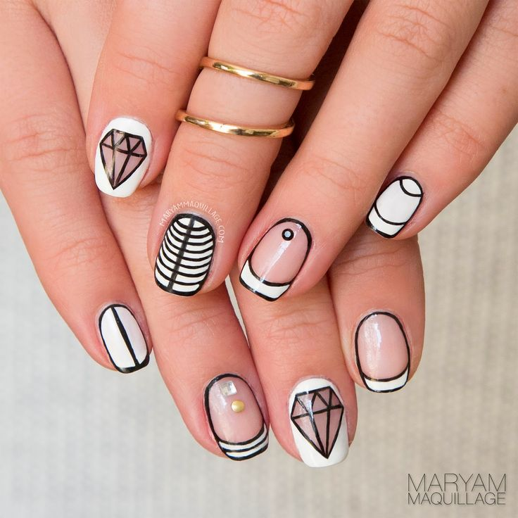Maryam Maquillage: Nail Art: Bright Like A Diamond