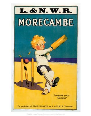 Morecambe Loosens your stumps Cricket on the beach