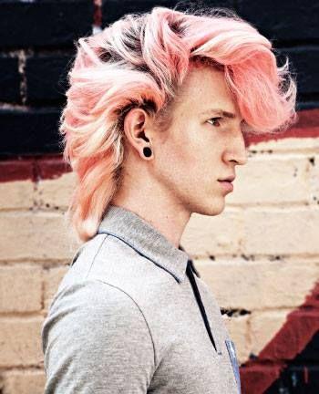Beautiful pinky quiff boy