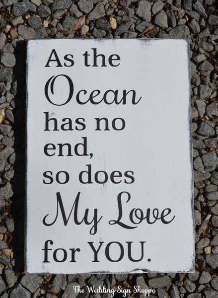 Beach Sign Nautical Nursery Decor As The Ocean Has No End Beach Baby New Baby Gift Idea New Parents Beach Theme Room Ocean Love Quote Kids Room