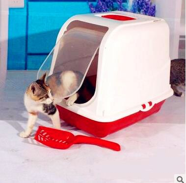 Cat Bedpans Totally Closed Cat Toilet Pet Cat Litter Box Plastic Bedpan Products For Cats S M