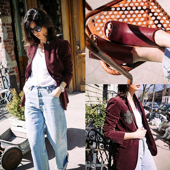 Get this look: http://lb.nu/look/8661483  More looks by Ewa Sleszynski: http://lb.nu/urbancreativitea  Items in this look:  Tom Ford Sunglasses, Maison Martin Margiela Shoes, Redone Jeans, Gucci Blazer   #retro #street #vintage #photooftheday #lookoftheday #outfitoftheday #potd #lotd #ootd