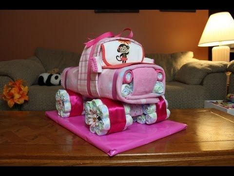 In this video Thom shows you how to make a cool Diaper Cake 4x4 Truck! Another cool idea Thom thought might make a cool Baby Shower gift. Thanks so much for watching! please subscribe so you don't miss any future videos!    Diaper Cake - Baby Shower - Gift Idea - Diaper Cake Truck - Party Favor - Center Piece