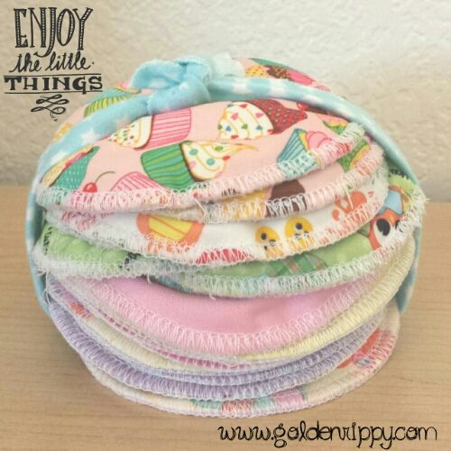 Sew a pair of breast pads